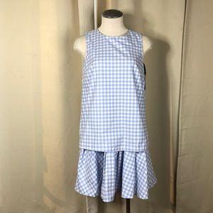 Victoria Beckham Target blue gingham dress small